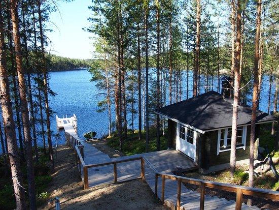 Finlandia: Вид на озеро Полвиярви