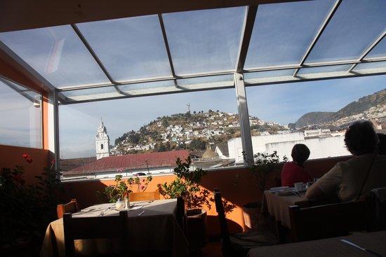 Hotel Boutique Plaza Sucre: Uitzicht vanuit de ontbijtzaal