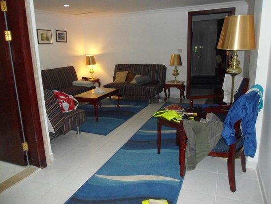 Golden 5 Topaz Suites Hotel : гостинная