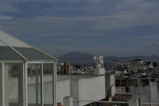 El Asturiano: Vue de la chambre sur le Maroc