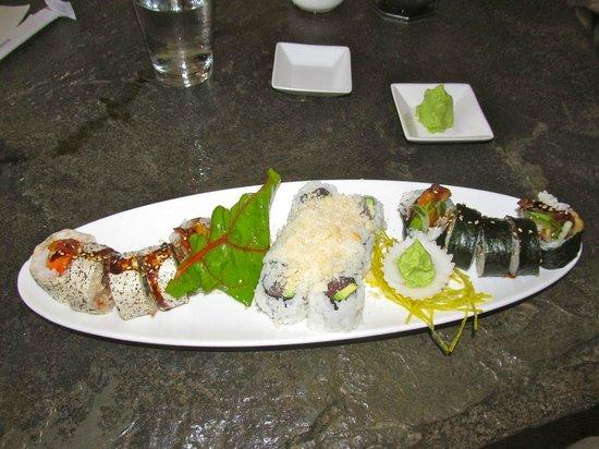 Sushi Main Street: Rolls were fantastic
