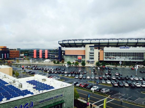 Renaissance Boston Patriot Place Hotel: View of Gillette from our room in the 5th floor