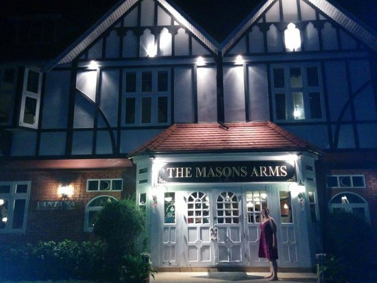 The Mason's Arms: Outside the place!