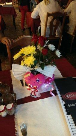 Karlsson Restaurant & Steak House: Blommor vid firande