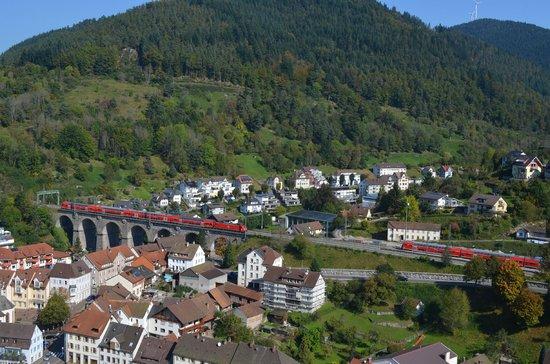 Schloss Hornberg: linha férrea