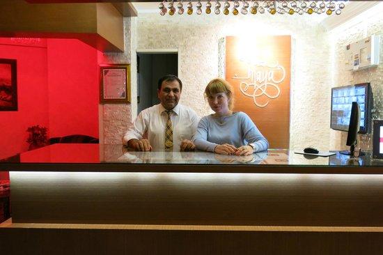 Maya Hotel: recepcja z Yusuf