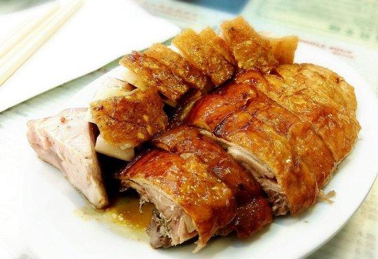 Great NY Noodletown : Roast duck & roast pork combo. Great taste!