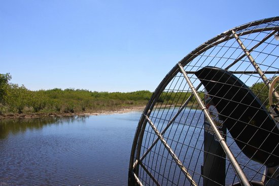 Airboat-Propeller - Picture of Corey Billie's Airboat Rides