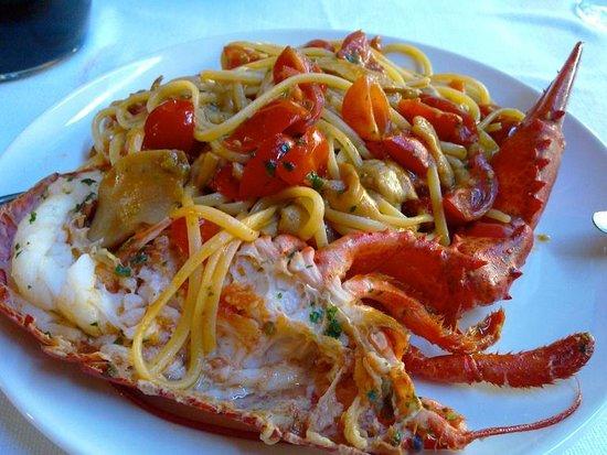Linguine with Lobster at Le Lanterne