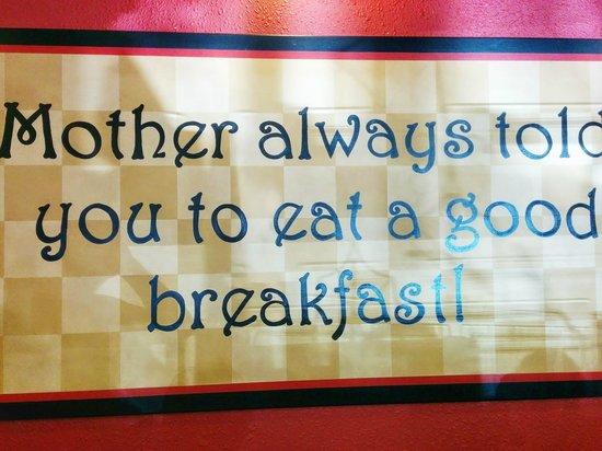 The Egg & I Restaurants- Scarborough: so true