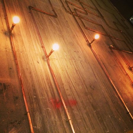 Copper Pipe Lights At Byrons Picture Of Byron Highcross