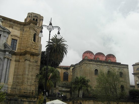Church of San Cataldo: The domes from the street view. Very Norman/Arab architecture.