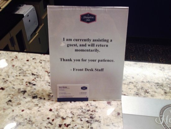 Hampton Inn Concord/Bow: Bad service all the way.