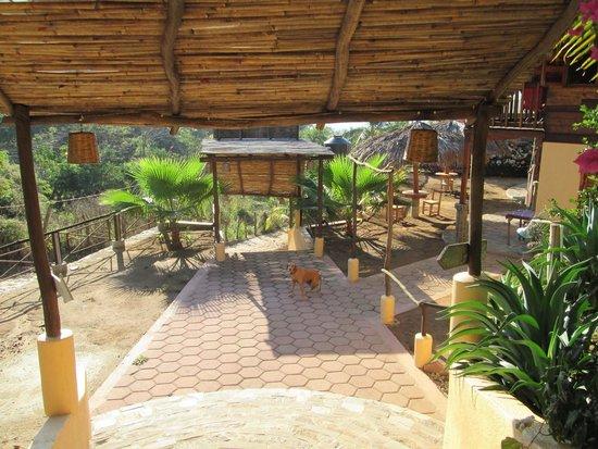 Entrance to cabanas