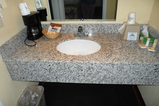 Plymouth Photo: Granite Counter Tops For All Bathroom Sinks