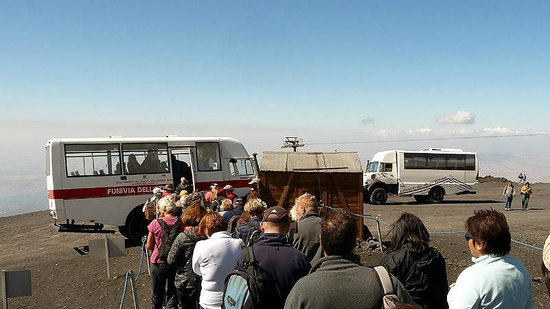 Boarding The Jeep Bus At Cable Car Terminal At 2500m Picture Of