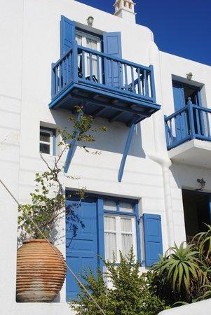 Myconian Inn Hotel: our balcony