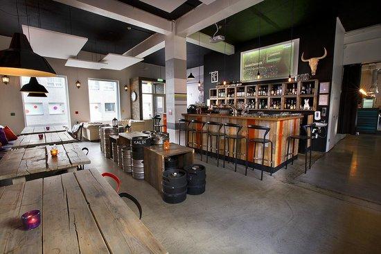 Forrettabarinn: The bar area.