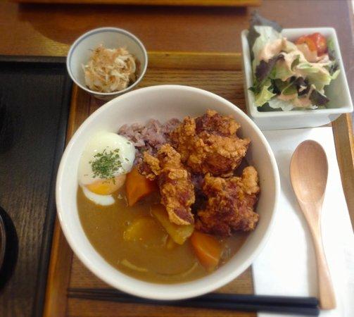 Lagu: Chicken combo curry とろける温玉入り