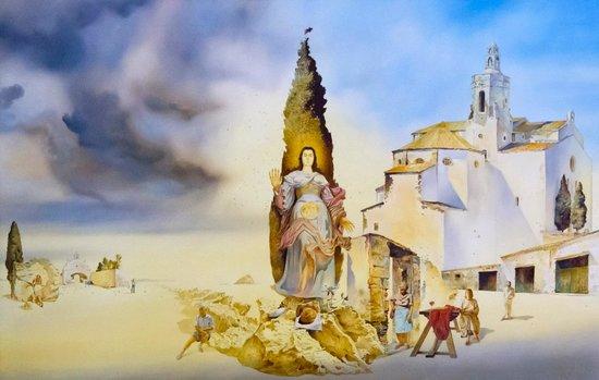 Esglesia de Santa Maria : 礼拝堂のひとつに飾ってある絵。カダケスらしくダリ調