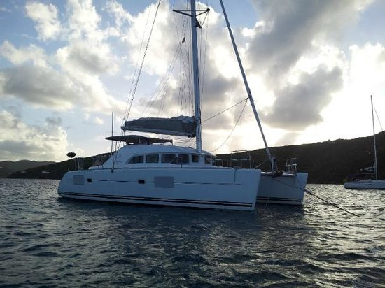 BVI Yacht Charters : The Apaca, on a mooring