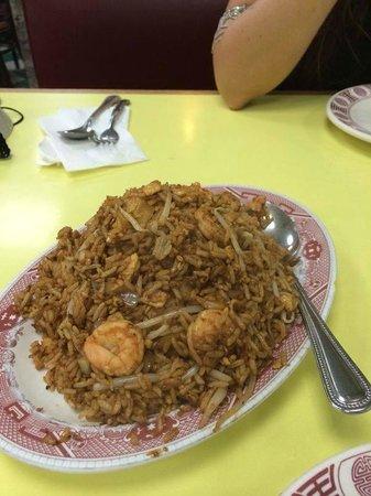 Wo Hop : arroz frito con gambas