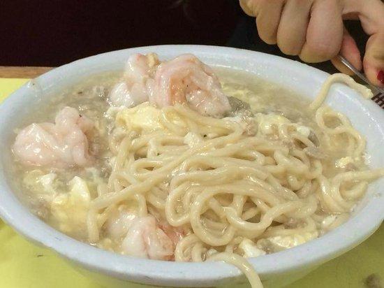 Wo Hop : fideos de arroz con salsa de langosta