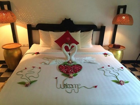 Petit Villa Boutique & Spa: room with Welcome decoration