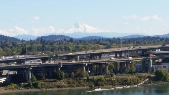 view of snow capped mt hood from hotel room at the marriott rh tripadvisor com