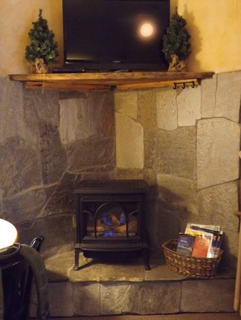 Tahoma Meadows B&B Cottages: Stay warm and cozy and watch tv