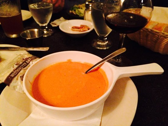 The Palms Restaurant: Delicious Tomato and Cheese Soup!