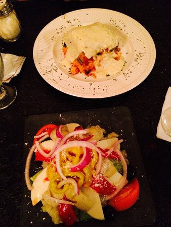 The Palms Restaurant: Antipasti Salad and Vegetable Lasagne - Yum!