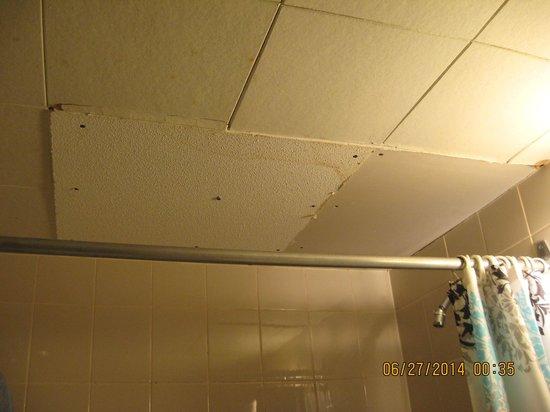 Niagara Falls Courtside Inn: bathroom ceiling