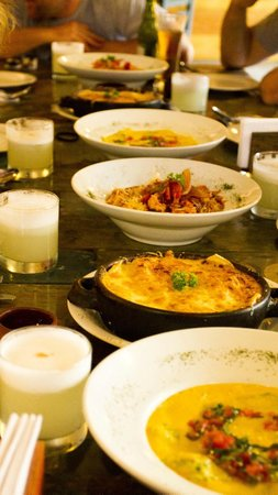Mirasol: Array of different dishes