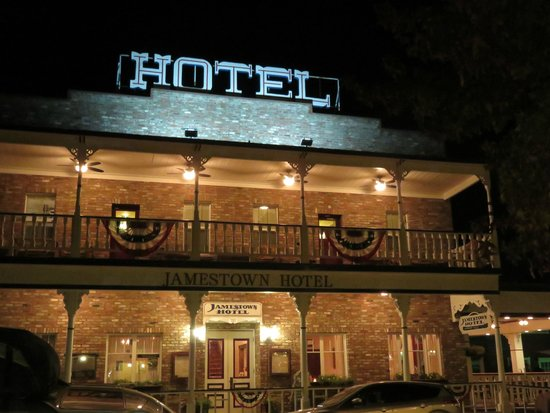 Jamestown Hotel: Room #1 is upstairs on the right with direct access to the veranda.