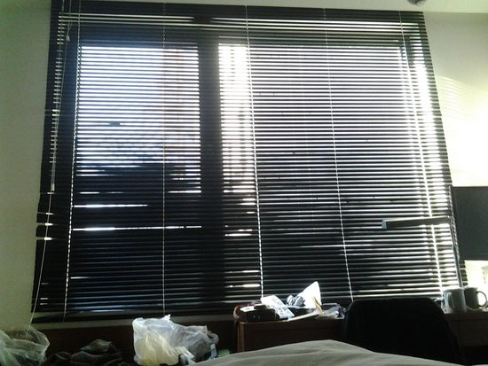 Hotel ShinShin: window facing bed in the morning. very bright!