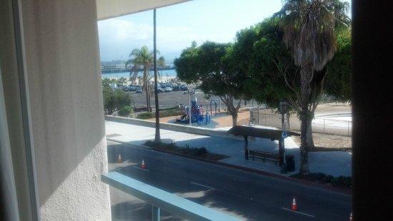 Best Western Beachside Inn: View of harbor from balcony