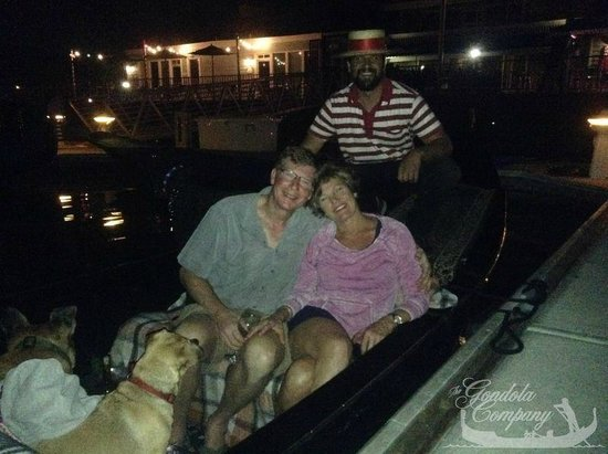 The Gondola Company : My boyfriend and doggies on my birthday!