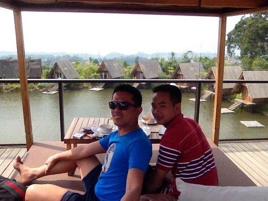 Cisarua, Indonesia: Gazebo on the sundeck....