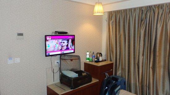 Hotel Regent Grand: LCD and Minifridge