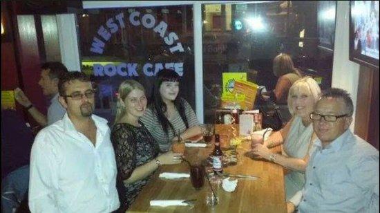 West Coast Rock Cafe: Fun times