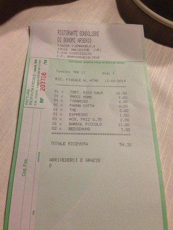 Ristorante al Gondoliere: Good value for money. Our dinner was delicious!
