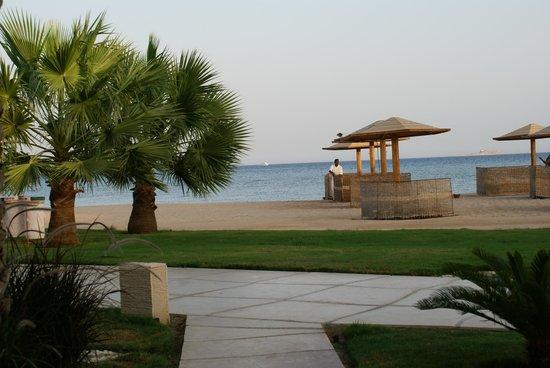 Shams Prestige Abu Soma Resort : Ausblick von Terrasse Zimmer 1007