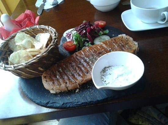 Aslan's Den: mint lamb panini
