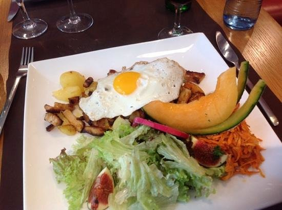 Muomina : Salad poulet carmalized
