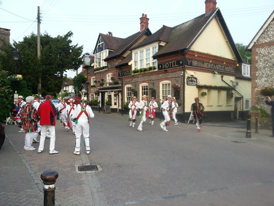 Morris Dancing outside the Castle Inn Hotel