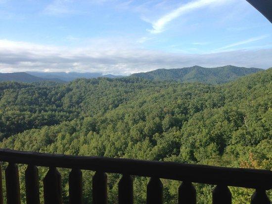 Gatlinburg Falls Resort: view from deck