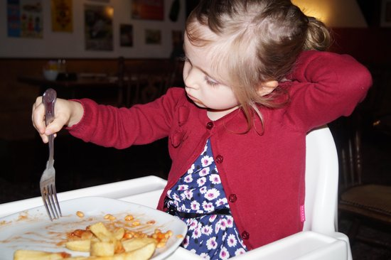 Gilcrux, UK: this young person enjoyed the kids meals