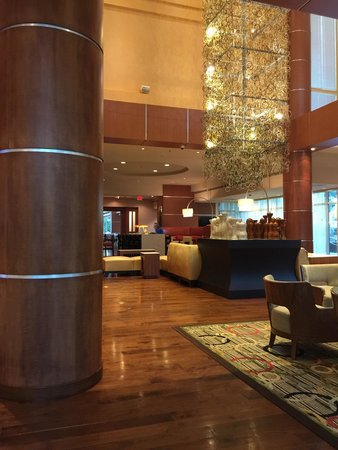 Warner Center Marriott Woodland Hills: Standard Marriott lobby.