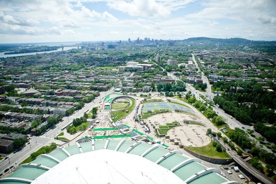 Olympic Park (Parc olympique): View from the Montreal Tower
